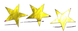 Three Gold Stars  |  Earned March 20, 2015